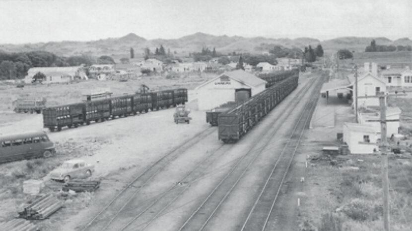 旧オマカウ駅構内(1940年代)