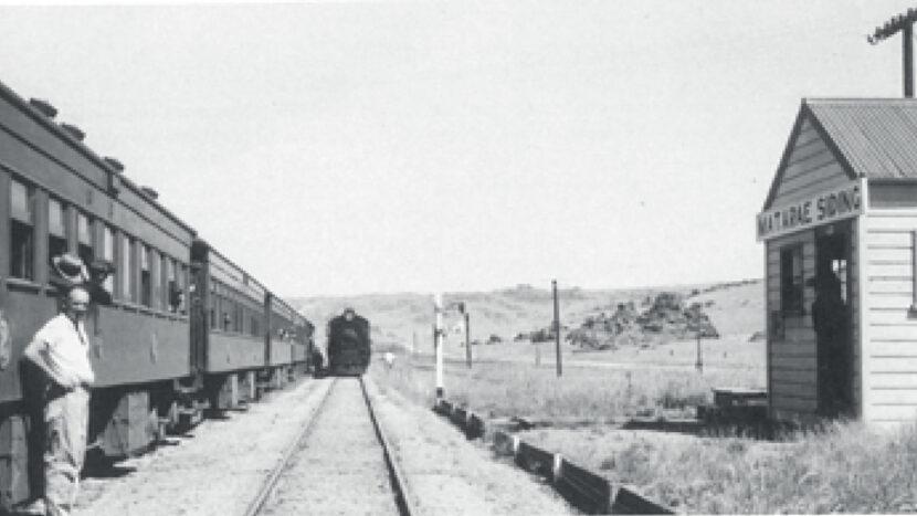 信号場での列車交換(1940年代)