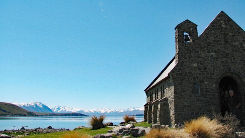 テカポ湖畔の有名な教会