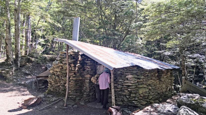 金鉱夫が住んでいた山小屋